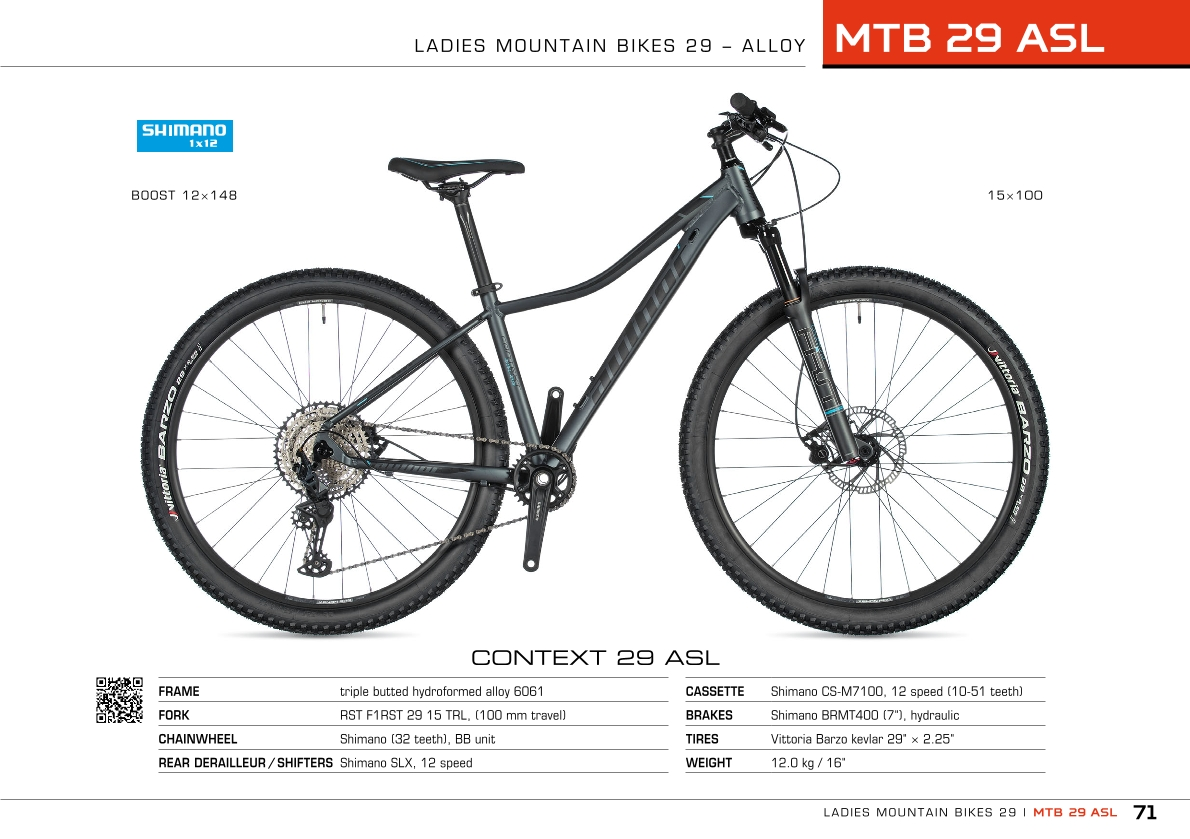 MTB ASL 29 - ladies mountain bikes 29